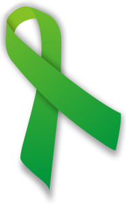Awareness ribbon is green